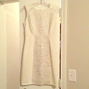 White cocktail dress! Worn once!